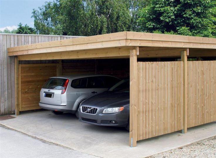 1000 id es sur le th me carport bois sur pinterest abri voiture aluminium abris voiture bois for Abri voiture moderne