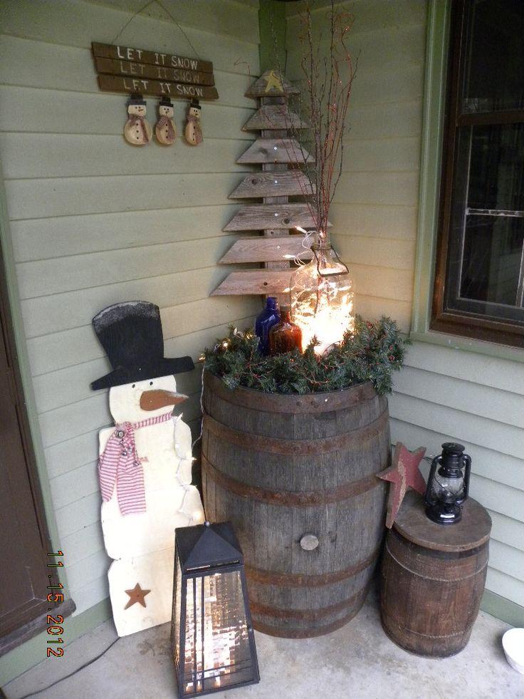 Winter porch decor