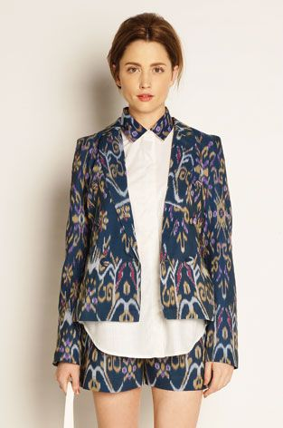 ikat blazer. beautiful!!