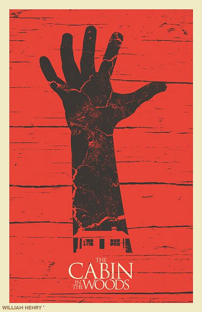 The Cabin In The Woods poster by Bill Pyle, via Flickr