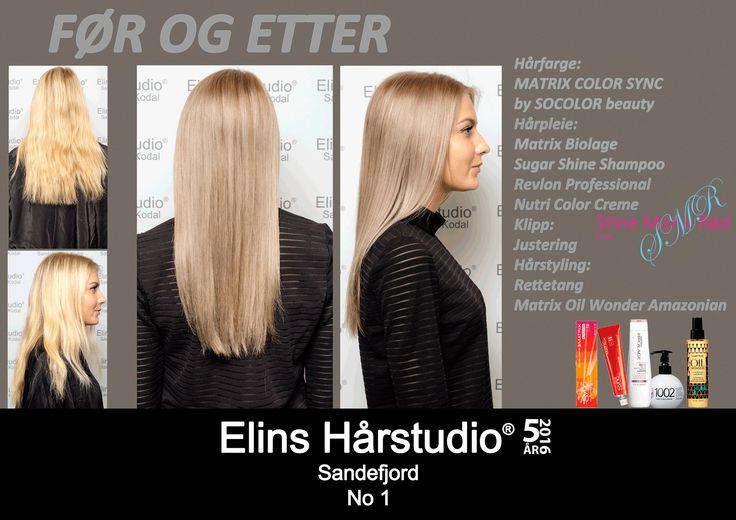 Blond langt hår til silver fox highlights hårfarge