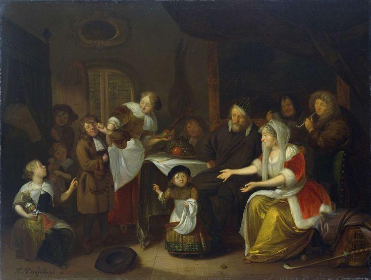 Het Sint Nicolaasfeest., Richard Brakenburg, 1685