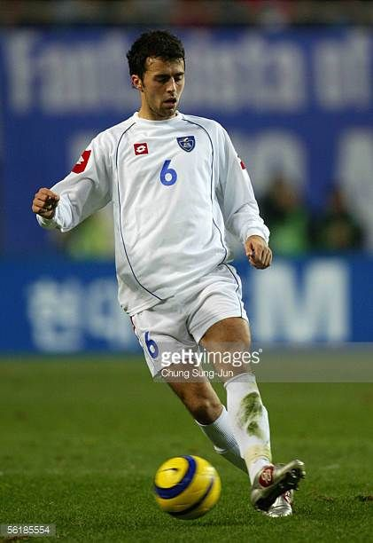 Marko Basa of SerbiaMontenegro in action during the International friendly match between South Korea and SerbiaMontenegro at the SangAm World Cup...