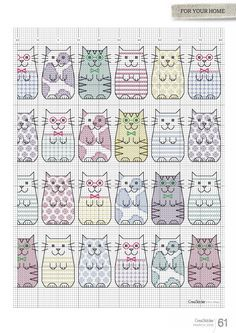 Cross-stitch Copy Cats, part 2...  color chart on part 1...    4450chM15_61.jpg