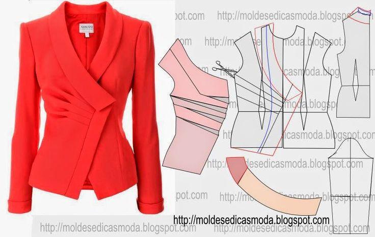 Moldes Moda por Medida: TRANSFORMAÇÃO DE CASACO COM GOLA REDONDA - 1