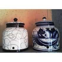 Base Porta Garrafon De Ceramica Con Llave Dispensador Agua