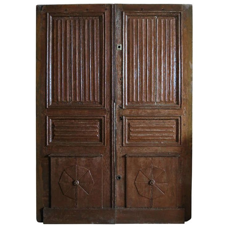 French Abbey Louis XIII Style Main-Entrance-Doors Oak circa 1700s France.'.