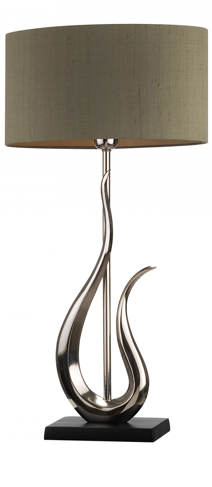 Modern table lamps for living room -  Silver Silver Table Lamp Table Lamps Modern Table Lamps Contemporary Table Living Room