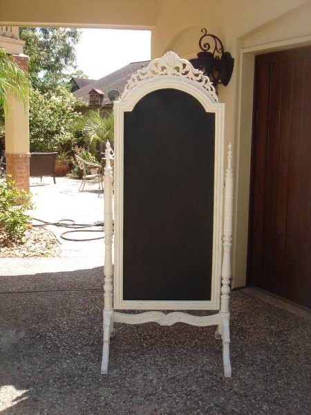Diy Paint An Old Stand Up Mirror With Chalk Board Paint