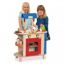 Wonderworld - Wooden Play Pretend Kitchen Cooking  My son would get hours of fun out of this, it would be the best Xmas present! #entropywishlist #pintowin