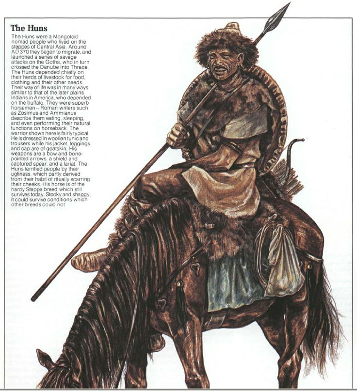 What was the impact of Attila the Hun on the Roman Empire