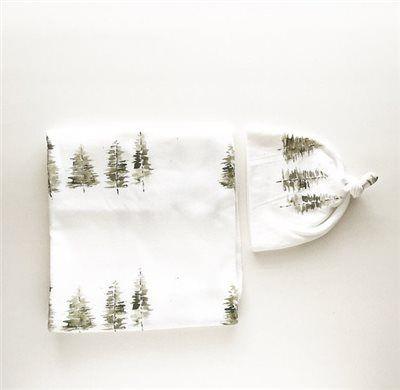 Baby Swaddle Blanket Watercolor Tree // baby registry item