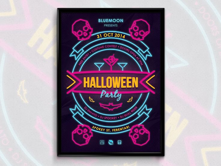 80's Halloween Poster by Vede Emanuel