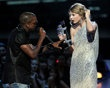 Kanye West interrupts Taylor Swift