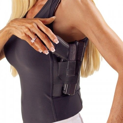 Undertech womens concealment top. now that I know I can carry on campus I will be armed all the time!