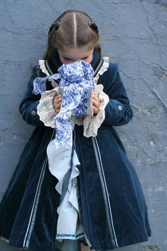 Rembrandt 100 Dutch Jottum Girls Velvet Dress Coat 7 8 9 128 Portrait | eBay