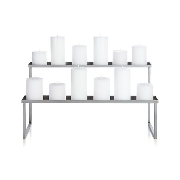 Pewter Fireplace Candelabra in Outlet Accessories | Crate and Barrel