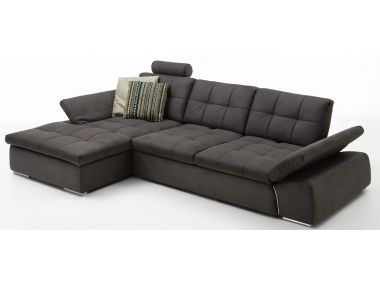Via Plus Bronx Ca 320x186 Cm Stoff Grau Wohnzimmer Couch