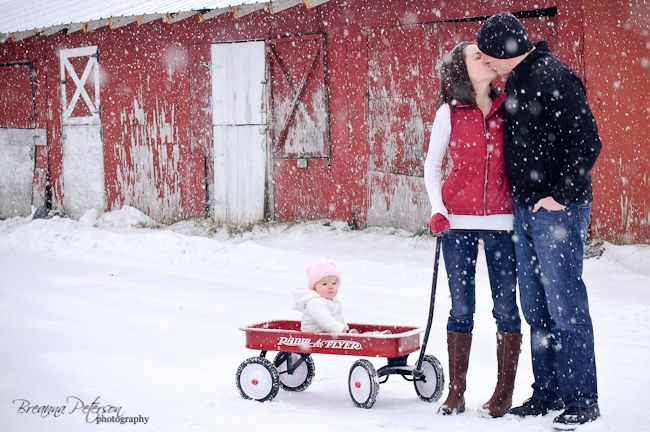 family, red wagon