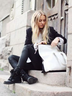 wedge sneaker done right