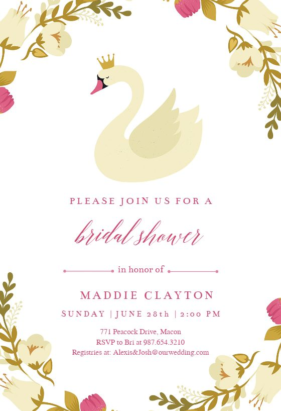 templates for invitation invitations free wedding shower bridal word party downloads download