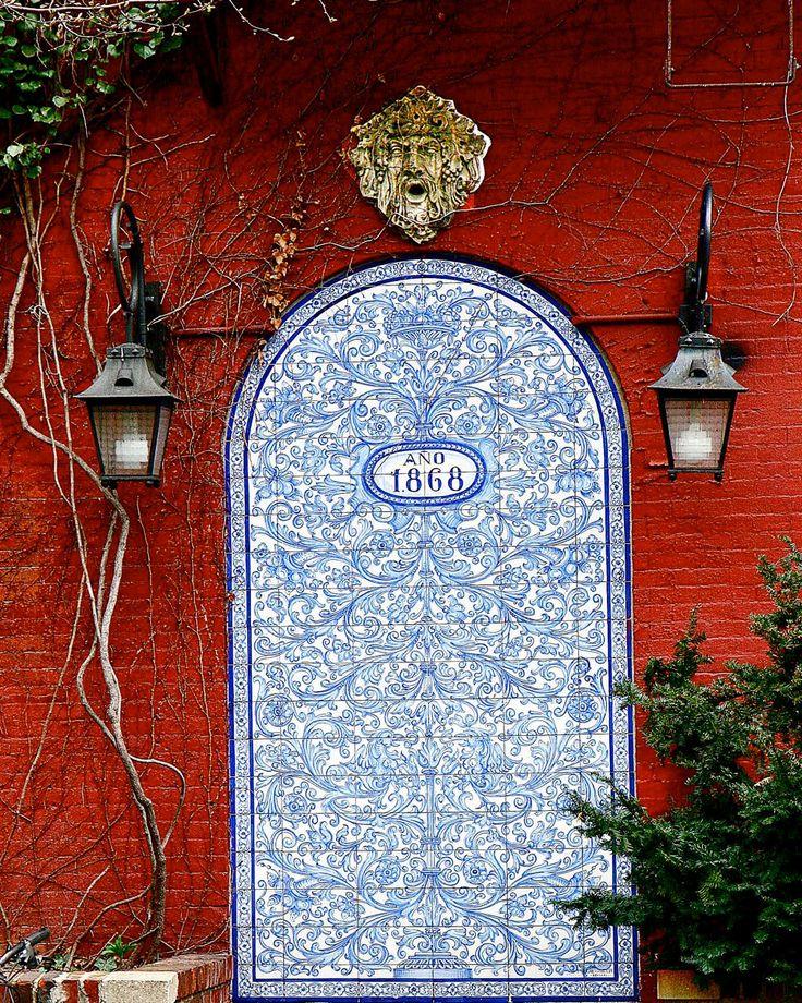 blue tiled
