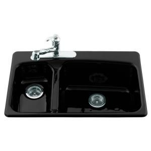 discontinued kitchen sinks kohler lakefield self cast iron 33x22x10 25 3 3347