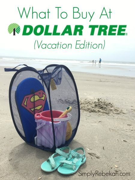 Now I know what to buy at Dollar Tree for my next vacation! Beach ideas