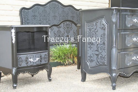 Custom painted french provincial bedroom set made to order - Painted french provincial bedroom furniture ...