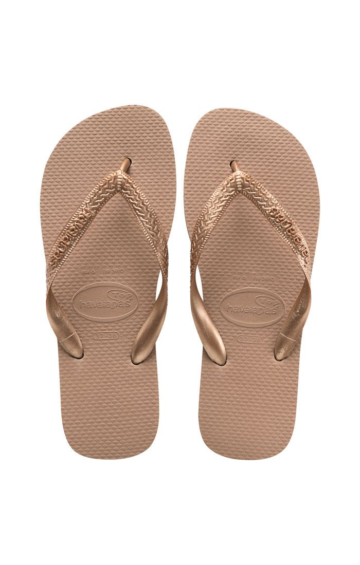 Havaianas Top Tiras Sandal Rose Gold  Price From: 25,27$CA  https://flopstore.ca/ca_french/new-arrivals/havaianas-top-tiras-sandal-rose-gold.html