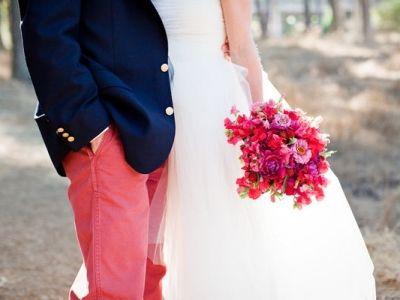 Pantalon rose pour le marié