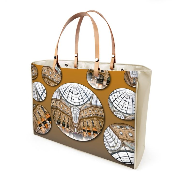 """Galleria"" Handbag  -  Available in leather or vinyl finishes Leather handles and steel protection feet Two inner pockets, one with zip 2 sizes available: small and large 10 years warranty"