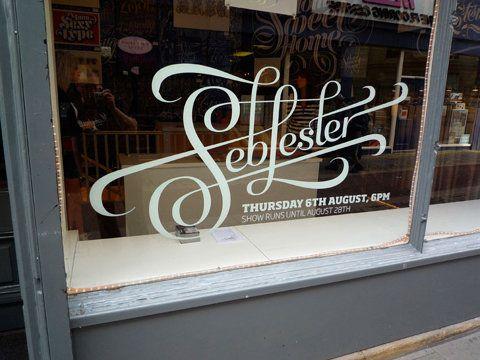 .: Design Inspiration, Signs, Logo, Window Display, Graphics Design, Seb Lester, Seblester, Fonts, Stores Window