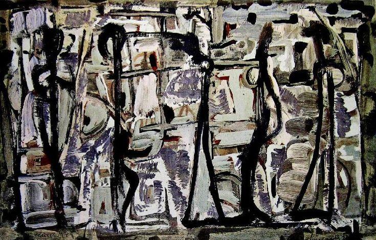 Ian Fairweather Abstract Figures, c. 1959