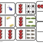 Teach 0-6 with these large scale domino. Included is a set with numerals and a set with pictures of different types of BUGS. Also is a page of 2x2 ...
