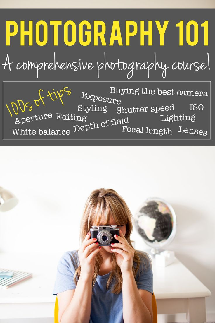 Photography 101 e-course: a comprehensive photography course! The perfect guide for beginner