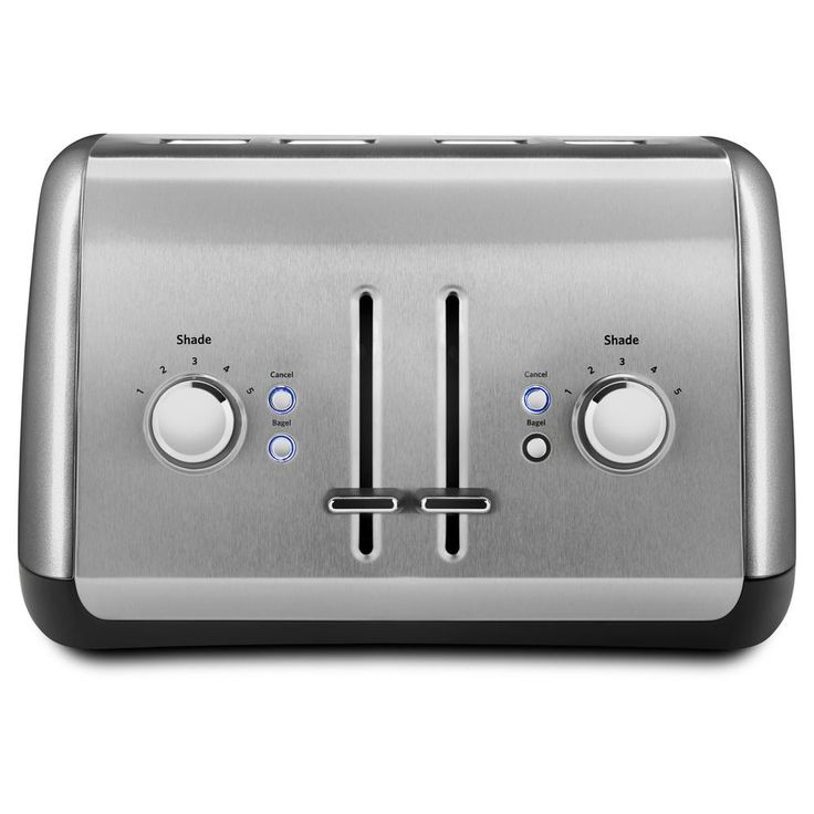 Kitchenaid 4slice silver wide slot toaster with crumb