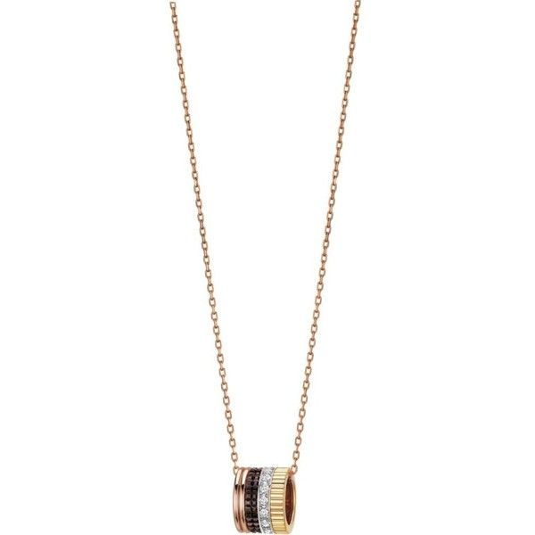BOUCHERON Quatre Classique 18ct pink-gold, yellow-gold, white-gold and... ($6,090) ❤ liked on Polyvore featuring men's fashion, men's jewelry, men's necklaces, mens yellow gold cross necklace, mens gold pendant necklace, mens diamond pendant necklace, mens white gold necklace and mens pendant necklaces