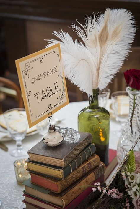 bourbon inspired wedding | Prohibition Era themed Speakeasy wedding with a red, black, and gold ...