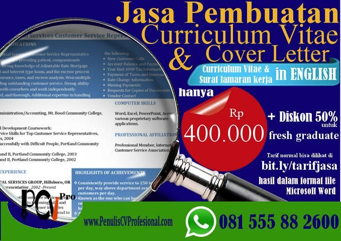 Jasa Pembuatan Curriculum Vitae Bahasa Inggris  Jasa Pembuatan Curriculum Vitae CV Kerja Professional dari menawarkan layanan pembuatan cv kerja professional yang membantu karir anda ... curriculum vitae design template free download,design cv template, curriculum vitae design template word, cv creative maker, design cv online, cv design layout, cv design inspiration, simple cv design,design cv menarik, design cv unik, design cv kreatif, design cv word, design cv doc, design cv keren, design…