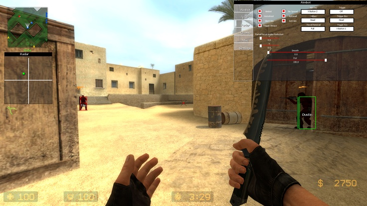 Download Counter Strike Source Aimbot  Customize your css aimbot however you lik, for example if you like you can make the aimbot to miss 2 bullets and after 2 missed bullets to make full demage to enemie, or only 35% hp,  our aimbot service can also control your windows pointer and this way look 100% legit, very hard to be detected   More about that  http://www.gamesaimbot.com/2012/12/download-counter-strike-source-aimbot.html