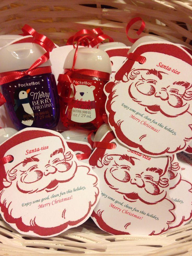 Hand Santa-tizer with cute tag