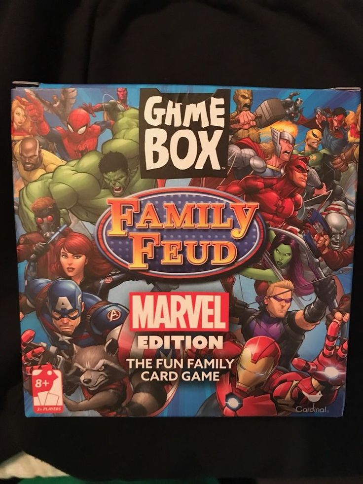 MARVEL EDITION FAMILY FEUD GAME BOX - card game Spider-man Hulk Captain America #Marvel