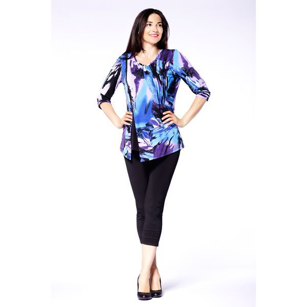 A trendy top - the light fabric allows you to breathe and gives you a trendy look. Pair with your favourite bottoms and some stylish heels.  Content: 92% Polyester, 8% Spandex  Fit: Slim