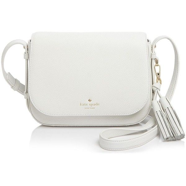 kate spade new york Orchard Street Penelope Crossbody (16,235 PHP) ❤ liked on Polyvore featuring bags, handbags, shoulder bags, bright white, kate spade, crossbody shoulder bags, kate spade crossbody, tassel purse and crossbody purse