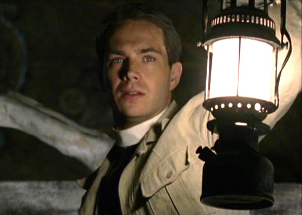James D'Arcy as Father Francis, a bright, young priest sent by the Vatican to oversee the excavation of an early 5th century church in East Africa.  Father Francis aided Father Merrin in his initial battle with Pazuzu and the rediscovery of his faith, decades prior to The Exorcist.