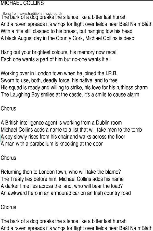 Lyric he wants it all lyrics : 125 best Michael Collins: his life & times images on Pinterest ...