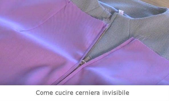 Come cucire cerniera invisibile – Spiegazioni.