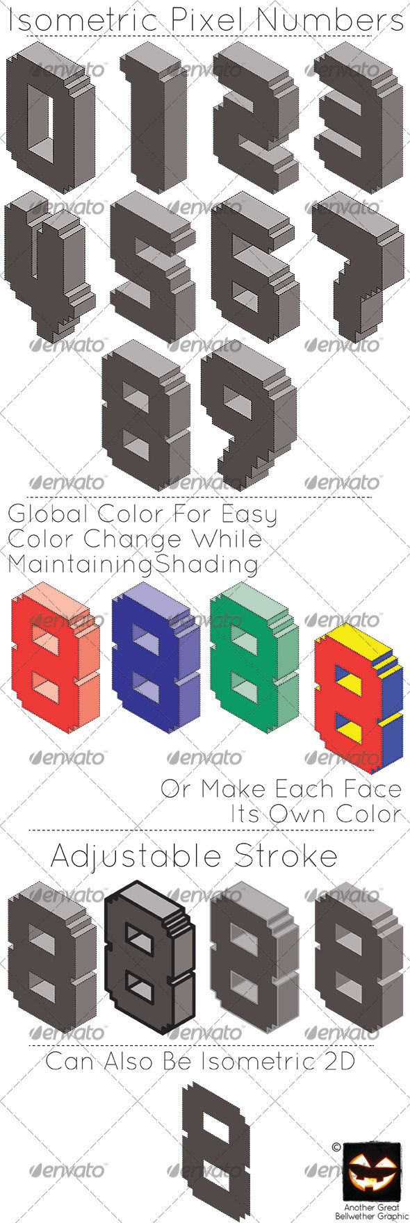 Elegant royal frame with crown vector colourbox - Isometric Pixel Numbers Graphicriver A Vector Set Of Numbers 0 9 In An Isometric