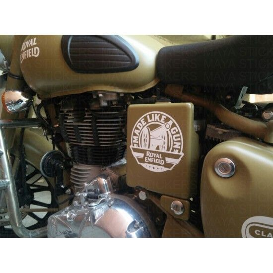 Made Like A Gun Sticker Decal For Royal Enfield Bullet Bikes